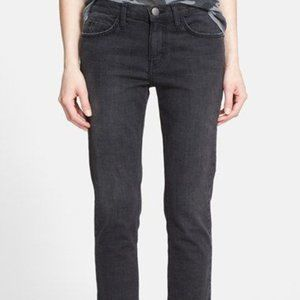 Current Elliott 26 Black Dusk Wash The Crop Jeans